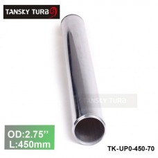 "Tansky 2pcs/unit 70mm 2.75"" Straight Length 450 mm Aluminum Turbo Intercooler Pipe Straight Piping Tube Tubing TK-UP0-450-70"