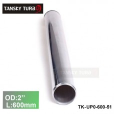 "Tansky 2pcs/unit 51mm 2"" Straight Length 600 mm Aluminum Turbo Intercooler Pipe Straight Piping Tube Tubing TK-UP0-600-51"