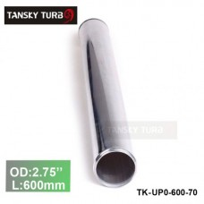 "Tansky 2pcs/unit 70mm 2.75"" Straight Length 600 mm Aluminum Turbo Intercooler Pipe Straight Piping Tube Tubing TK-UP0-600-70"