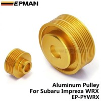 EPMAN-Underdrive Billet Light Weight Crank Pulley Golden For SUBARU WRX 2.0L EJ20 EP-PYWRX