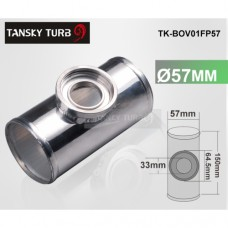 "57MM 2.25"" TURBO Aluminum FLANGE PIPE For  HKS SSQV/SQV BOV D16 TK-BOV01FP57"