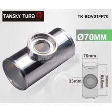 "70MM 2.75"" ALUMINUM TURBO PIPE / PIPING FLANGE ADAPTOR FOR GREDDY RS / S TYPE BOV TK-BOV01FP70"