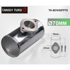 "70MM 2.75"" ALUMINUM TURBO PIPE / PIPING FLANGE ADAPTOR FOR GREDDY RS / S TYPE BOV TK-BOV02FP70"