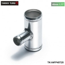 "TANSKY - Universal BOV T-pipe 45mm 1.77"" outlet 25mm Blow Off Valve T Joint Adaptor TK-04FP45T25"
