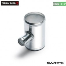 "TANSKY -Universal BOV T-pipe 80mm 3.15"" outlet 25mm Blow Off Valve T Joint Adaptor TK-04FP80T25"