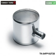 "TANSKY -Universal BOV T-pipe 102mm 4"" outlet 25mm Blow Off Valve T Joint Adaptor TK-04FP102T25"