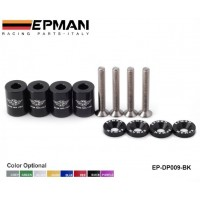 "EPMAN - Racing 1"" BILLET HOOD VENT SPACER RISER KITS FOR ALL TURBO / ENGINE/MOTOR SWAP 6MM EP-DP009"