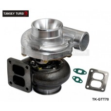 "TANSKY - T70 Turbocharger A/R .70 rear A/R 0.84 T4 twin scroll 4"" V-band oil Cooler TK-GTT70"