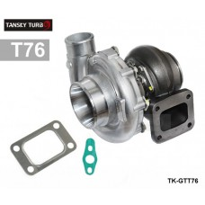 TANSKY - High Performance turbocharger T76 compressor A/R .80 turbine housing A/R.81 Oil 1000hp T4 V-Band Clamp  water cooling TK-GTT76