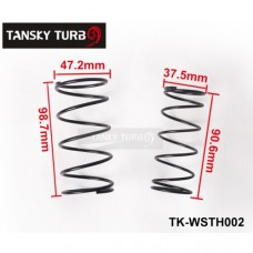 Tansky - 38MM TURBO EXTERNAL WASTEGATE WG SPRING COATED REPLACEMENT 14 PSI/8PSI 1BAR FOR TAIL TK-WSTH002