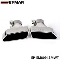 EPMAN Chrome 304 Stainless Steel Exhaust Muffler Tip For BMW 13-14 5-Class F18/F10 EP-EM8094BMWT