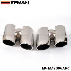 EPMAN Chrome 304 Stainless Steel Exhaust Muffler Tip For Porsche 14 Panamera 4S EP-EM8096APC