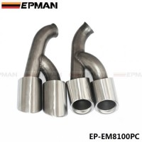 EPMAN 2pcs/set Modified Car Vehicle Exhaust Tail Muffler Tip Stainless Steel Pipe For Porsche 15 Cayenne EP-EM8100PC