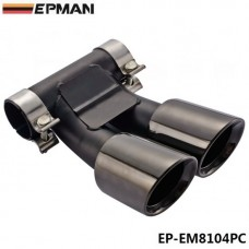EPMAN  Caliber 6.2cm 304 Stainless Steel Chrome Exhaust Muffler Tip For Porsche Cayman Boxster EP-EM8104PC