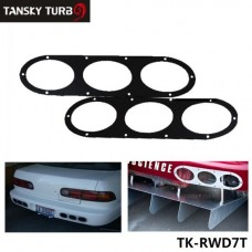 TANSKY - Black /Silver New Car Styling Universal Fitment Rear Bumper Air Diversion Diffuser Panel 2pcs TK-RWD7T
