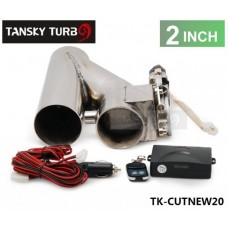 "2"" Exhaust Downpipe Testpipe Catback E Electric Cutout kit Switch Control+Remote TK-CUTNEW20"