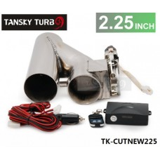 "2.25"" EXHAUST CATBACK TURBO ELECTRIC E CUTOUT With REMOTE UNIVERSAL PERFORMANCE TK-CUTNEW225"