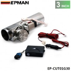"EPMAN 3.0"" I Type Electric Exhaust Catback Downpipe E-Cutout Valve System Remote Kit EP-CUT01G30"
