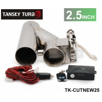 "Universal 2.5"" EXHAUST CATBACK TURBO ELECTRIC E CUTOUT Y PIPE WITH REMOTE TK-CUTNEW25"