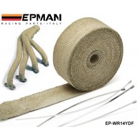 "PERFORMANCE THERMAL HEAT MANIFOLD EXHAUST SYSTEM WRAP BROWN 2"" wide  x 10meter long EP-WR14YDF"