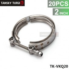 "Tansky - 20PCS 2"" STAINLESS V-BAND BOLT CLAMP FOR TURBO FLANGE DOWNPIPE WASTEGATE EXHAUST TK-VKQ20"