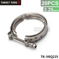 "Tansky - 20PCS Universal 2.25"" Stainless Steel Turbo V Band Clamp For Turbo Exhaust Downpipe TK-VKQ225"
