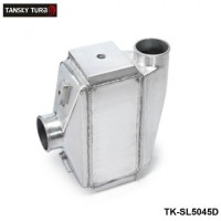 "TANSKY - 12""x12""X4.5"" Air to Water Intercooler A/W IC 3"" in/out Liquid Aluminum TK-SL5045D"