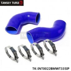 TANSKY - Intercooler Pipe Twin Turbo Silicone hose for BMW 335 E90 +Clamps blue TK-INT0022BMWT335IP