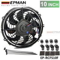 "EPMAN UNIVERSAL SLIM 10""  70 W PULL/PUSH RADIATOR ENGINE BAY COOLING FAN+MOUNTING KIT BLACK EP-RCFS10F"