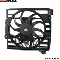 EPMAN - Replacement AC Radiator Condenser Cooling Fan Assembly For BMW E38 7 Series 96-98 64548380774 EP-RCFSE38