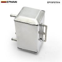 EPMAN Aluminum Square Car Engine Oil Catch Tank Can Reservoir Breather Kit EPYXFST014