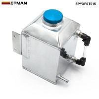 EPMAN Baffled Aluminum Oil Catch Can Resevoir Tank Kit  Oil Tank Fuel Surge Tank Car Accessories 1L EPYXFST015