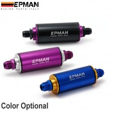 Epman Aluminum Racing Fuel Filter With Steel filter AN6 Fittings Purple EP-OF06