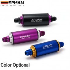 Epman Racing  AN8 Hi-Flow Motorsport/Rally/Racing Alloy Fuel Filter With Steel filter (Color : black,blue,purple)EP-OF08