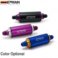 Epman Aluminum Racing Fuel Filter With Steel filter AN10 Fittings Purple EP-OF10