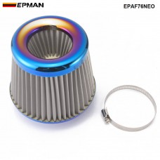 EPMAN Jdm Burnt Blue Stainless Mesh Air Filter per Charger Performance Race Intake EPAF76NEO
