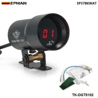EPMAN 37mm - Compact Micro Digital Smoked Lens Water Temp Temperature Gauge Black,EP37BKWAT