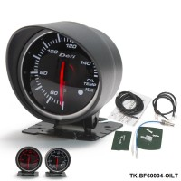 BF 60mm LED Oil Temp Gauge High Quality Auto Car Motor Gauge with Red & White Light TK-BF60004-OILT