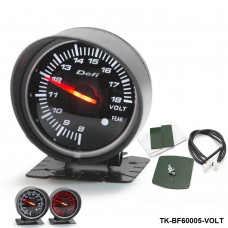 BF 60mm LED Volt Gauge High Quality Auto Car Motor Gauge with Red & White Light TK-BF60005-VOLT