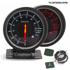 60mm Tachometer GAUGE (light:red&white) TK-BF60006-RPM