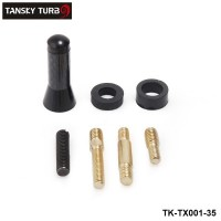 TANSKY - New Universal Length 3.5cm Car Truck Shark Fin Roof Decorative Dummy Antenna Aerial Black TK-TX001-35