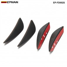 EPMAN - 4pcs Carbon fiber Color Fit Front Bumper Lip Splitter Fins Body Spoiler Canards Valence Chin  EP-FD002S