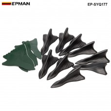 EPMAN -10pcs/lot Bumper Canard Fin Diffuser windshield Roof Spoiler Vortex Generator for BMW EP-SYQ177