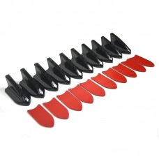 EPMAN -10pcs/lot Car ABS Black Roof Shark Fin Spoiler Wing Vortex Generator Universal EP-SYQ199