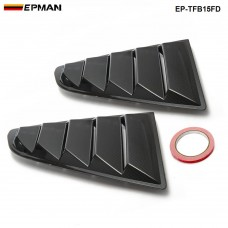 EPMAN -2PCS/SET Sand Sprayed Or Specular or Carbon Fiber Side Window Quarter Scoop Louver Cover For Ford Mustang 2015-17 GT EP-TFB15FDTW