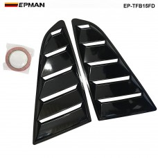 EPMAN -2PCS/SET Pair Black Color Side Window 1/4 Scoop Louver Cover For Ford Mustang 2015-2018 EP-TFB15FDBK