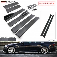 EPMAN 10SETS/CARTON Side Skirt Extension Lip Rocker For Honda Accord For Toyota Nissan Mitsubishi Sedan Coupe Universal EPCQ0345-10T