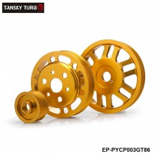TANSKY - For Toyota GT86 Subaru BRZ Scion FRS Light Weight Crank Pulley Power Steering EP-PYCP003GT86