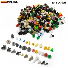 500pcs/LOT Car Door Trim Panel Clip Fasteners Auto Bumper Rivet Fastener Clip Assortments Kit Push EP-SLK500H