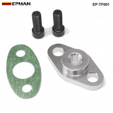 "EPMAN - Car BILLET ALUMINUM T3/T4 TURBO CHARGER 1/8"" NPT OIL DRAIN LINE FITTING EP-TF001"